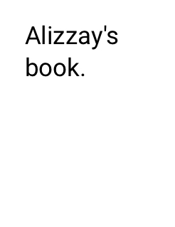 Alizzay's book. Storybook Cover