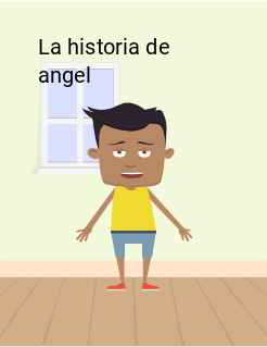 La historia de angel Storybook Cover