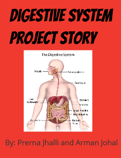 Digestive System Project Story Storybook Cover