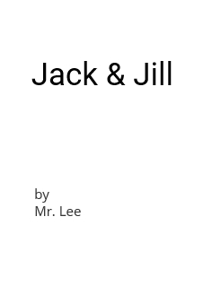 Jack & Jill Storybook Cover