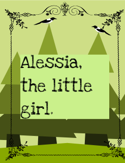 Alessia, the little girl and her cat. Storybook Cover