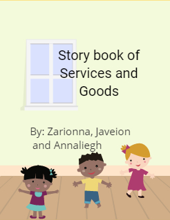 Story book of Services and Goods Storybook Cover