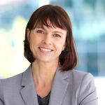 Professional business woman smiling outdoor close up portrait 55472495