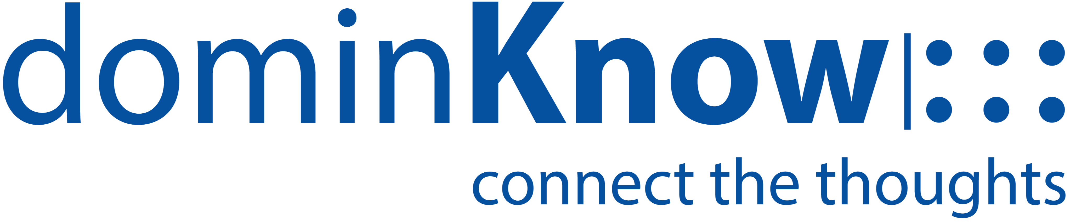 Dominknow complete logo blue