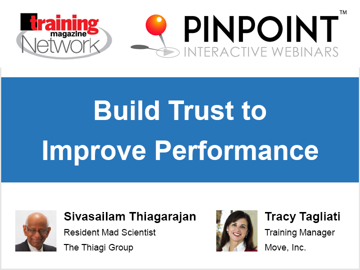 Build trust to improve performance