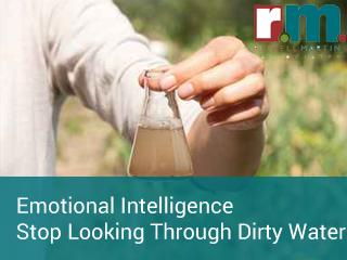 Emotional intelligence stop looking through dirty water