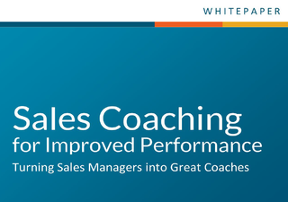 Sales coaching for improved performance lp tmn