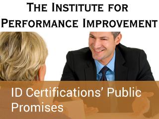 Id certifications public promises