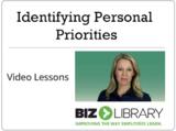 Identifying personal priorities