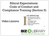 Ethical expectations code of conduct and compliance training