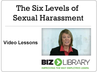The six levels of sexual harassment