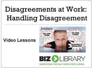 Disagreements at work  handling disagreement