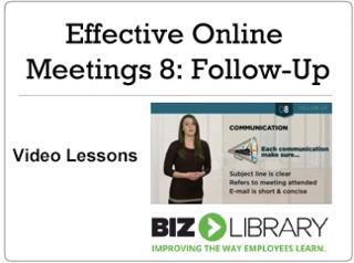 Effective online meetings 8 follow up