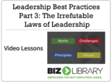Leadership best practices   part 3 the irrefutable laws of leadership