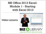 Ms office 2013 excel module 1   starting with excel 2013