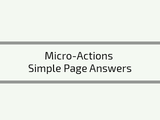 Micro actions examples