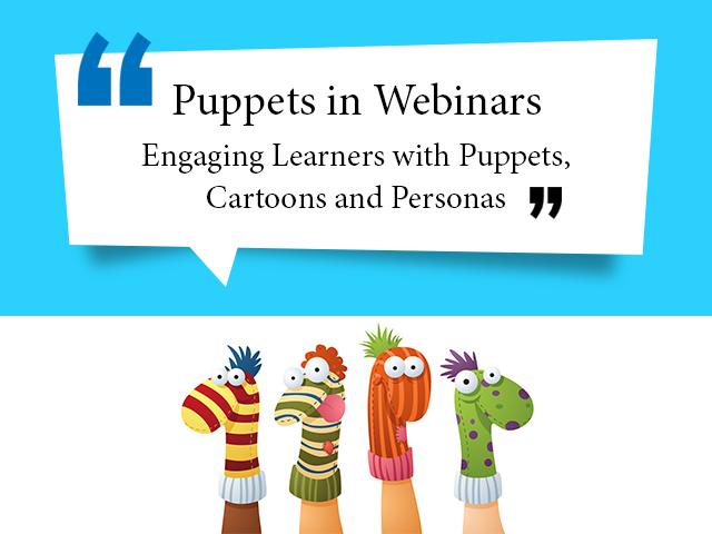 Puppets in webinar