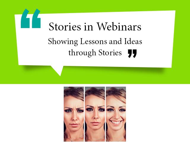 Stories in webinar