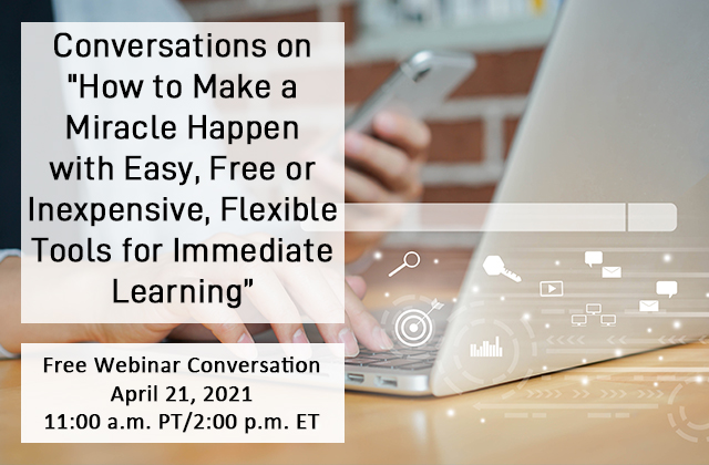Preview full conversations on how to make miracles happen using easy  small  affordable  flexible tools for immediate learning
