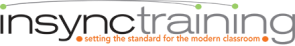 Insync logo modern classroom