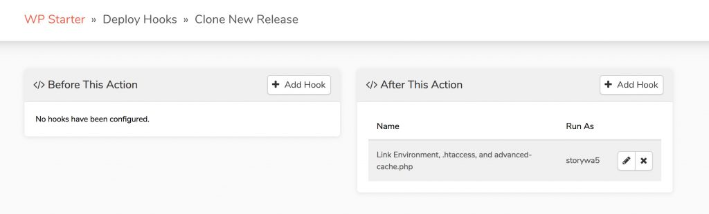 Deploy hook has been successfully added