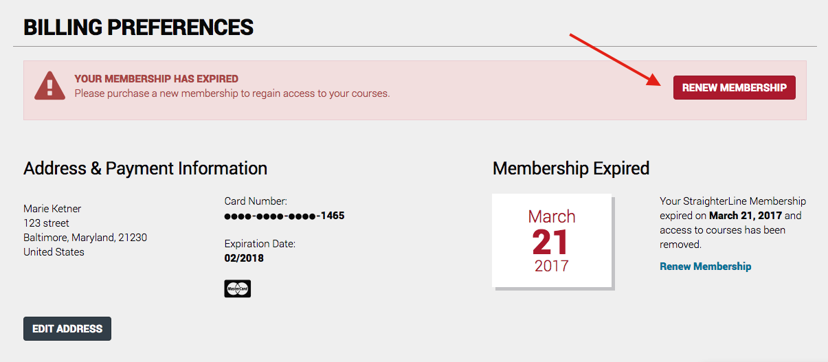 Select Renew Membership