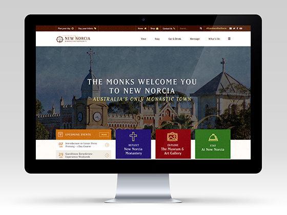 New Norcia Website - Axiom Design Partners