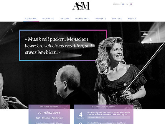 Anne-Sophie Mutter - zauberware technologies