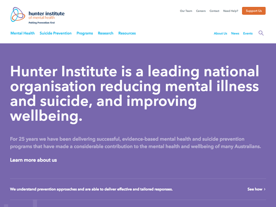 Hunter Institute of Mental Health - Newism Web Specialists