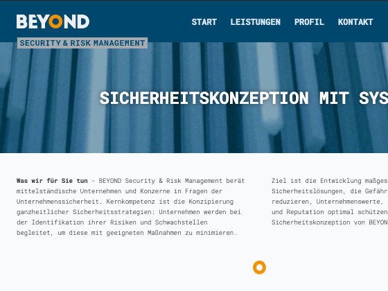 BEYOND Security & Risk Management - NORDENTWICKLER