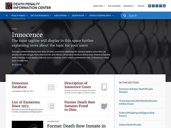 Death Penalty Information Center - Foster Made