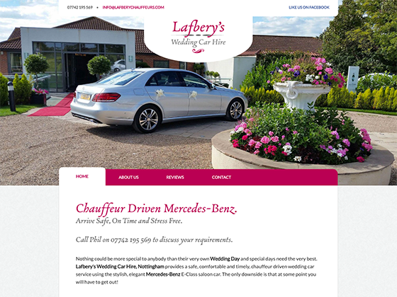 Lafbery's Wedding Car Hire - webdna