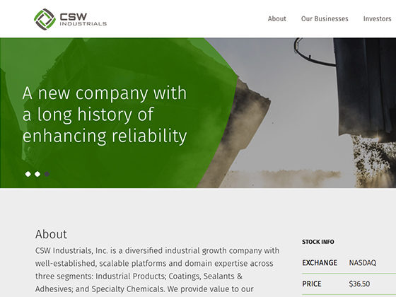 CSW Industrials - Ian DeRanieri