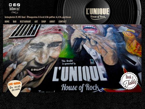 L'UNIQUE, Bar - Restaurant - Art - kreisvier communications ag