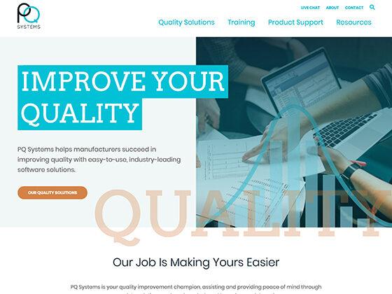 PQ Systems Website Design - Antistatic Design