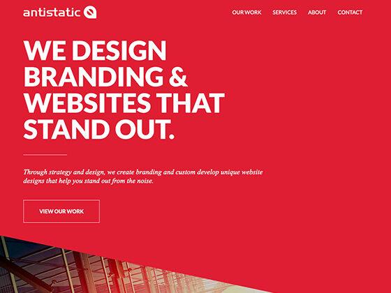 Antistatic - Custom Craft Website Design Experts - Antistatic Design