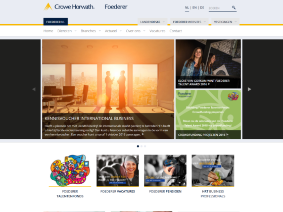 Crowe Horwath Foederer - Website - Digital Agency WHITE