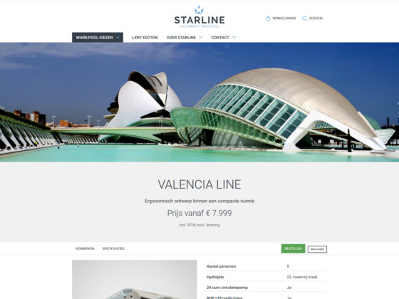 Starline whirlpool - Website - Digital Agency WHITE