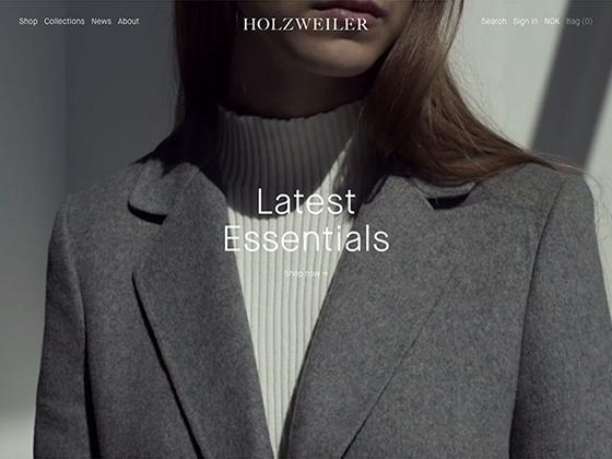 Holzweiler Webshop - André Elvan