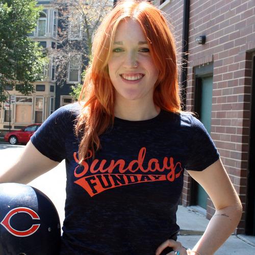 Sunday Funday Quotes: Sunday Funday (Orange) T-Shirt For Men & Women