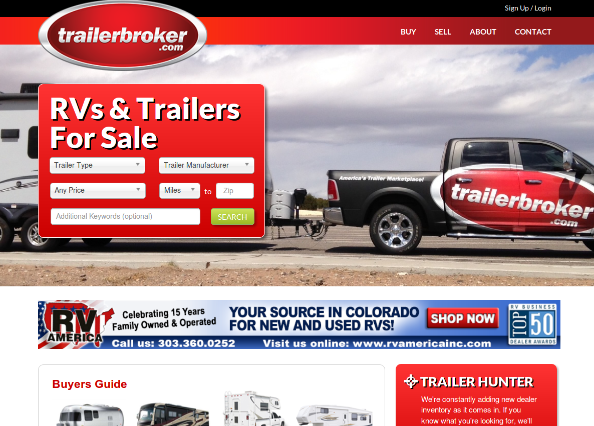 trailerBroker homepage