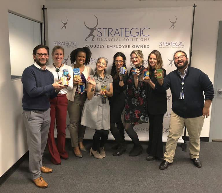 Strategic Financial Solutions Donates Over 350 Pounds of Food to Benefit the Food Banks of New York City and Western New York