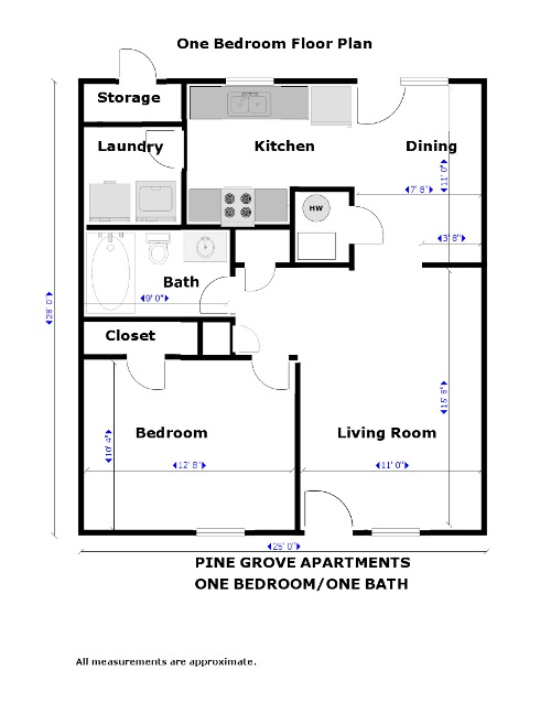 Pine grove apartments apartment palmetto ga for Income property floor plans