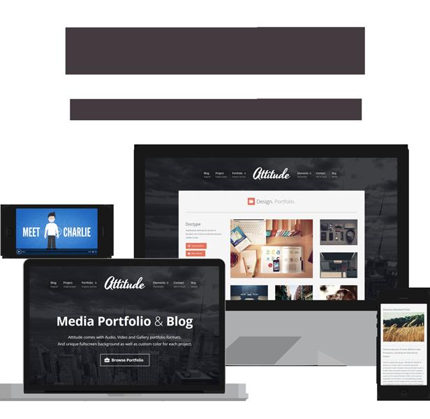 Attitude - Multimedia Portfolio WordPress Theme for Media Artists - 1