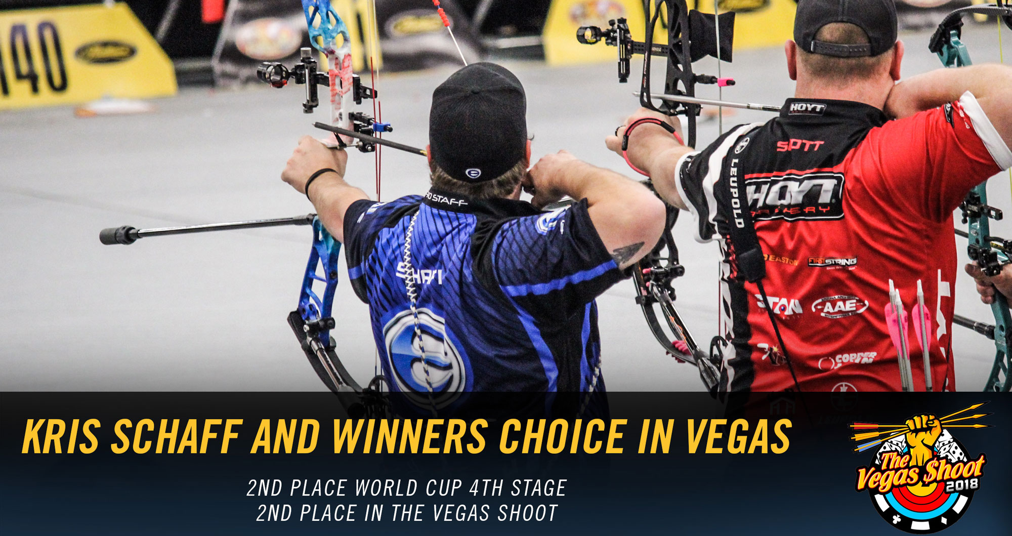 Kris Schaff uses Winners Choice Bowstrings - World Cup and Vegas Shoot