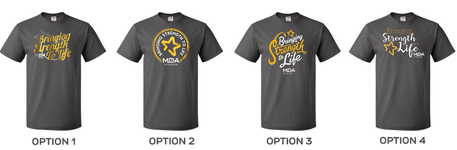 Cast Your Vote For The 2017 Mda Muscle Walk T Shirt Design
