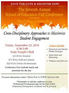 2016 Fall SOE Conference