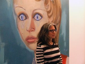 Janet Werner, Crying Eyes, 2011 oil on canvas, 88 x 66 in. Photo: MKOS.net