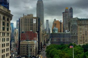 Matthew Ramirez '16 view from internship office in NYC