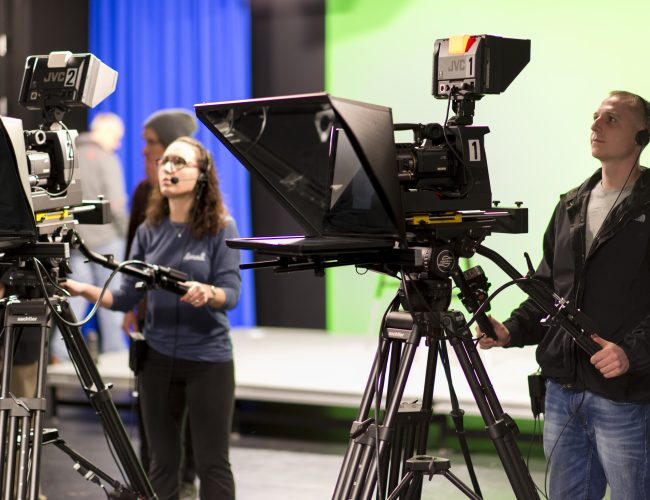 Hearst Television Studio and cameras